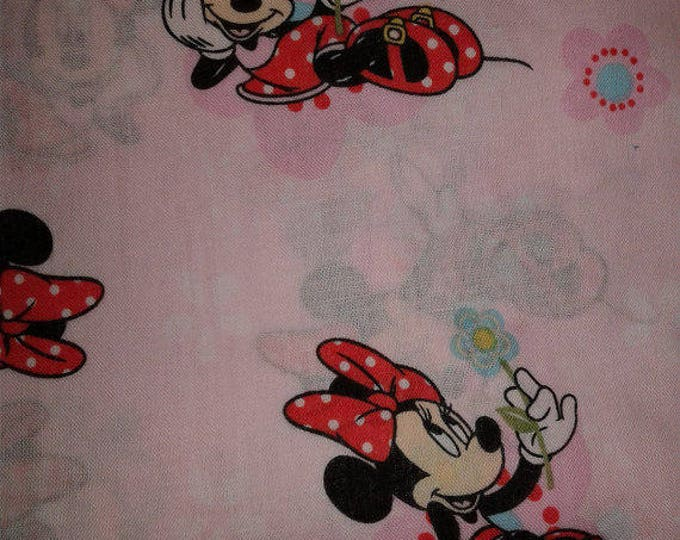Minnie Mouse Cotton Fabric by the Yard