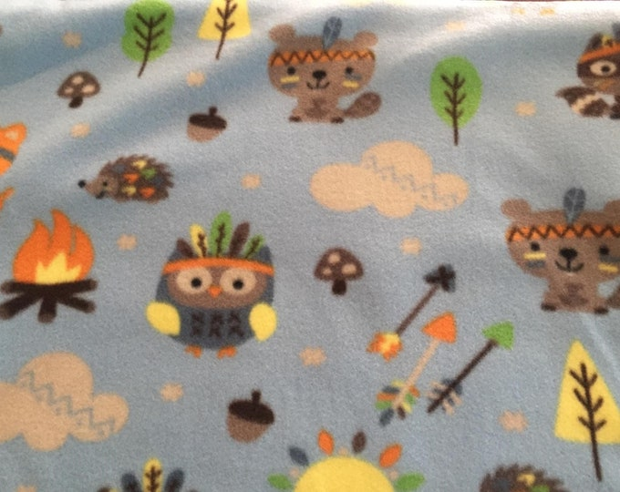 Summer Camp Fun Fleece Fabric by the Yard