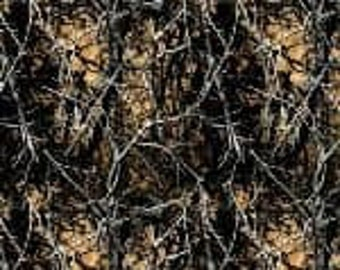 Muddy Girl Camo Brown Cotton Fabric by the Yard
