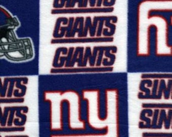 New York Giants Fleece Fabric by the Yard