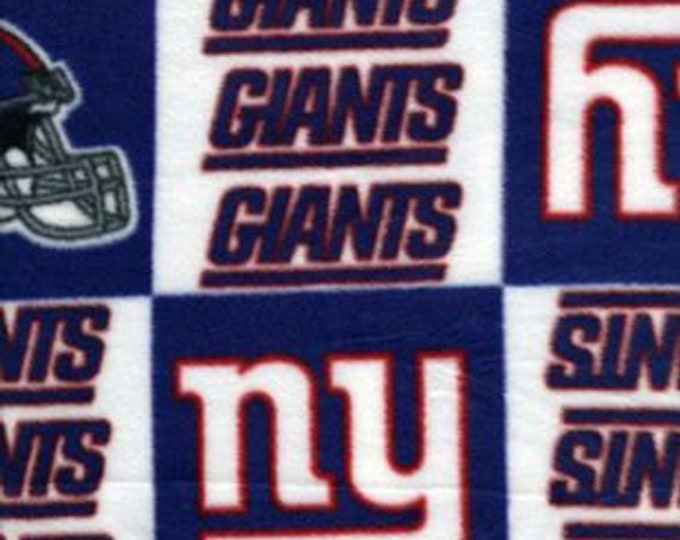 New York Giants Fleece Fabric by the Yard