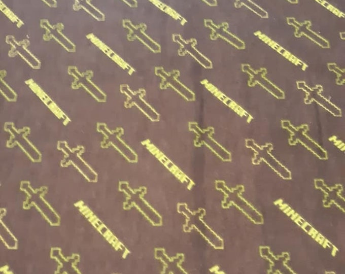 Minecraft Flannel Fabric by the Yard