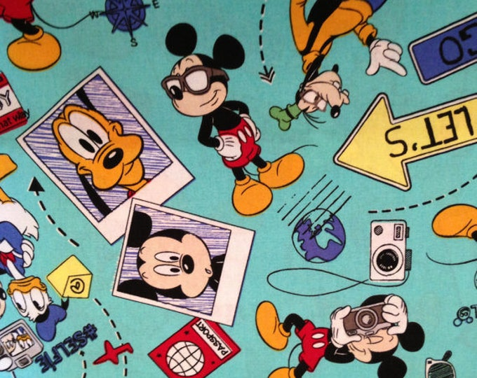 Mickey Mouse Cotton Fabric by the Yard