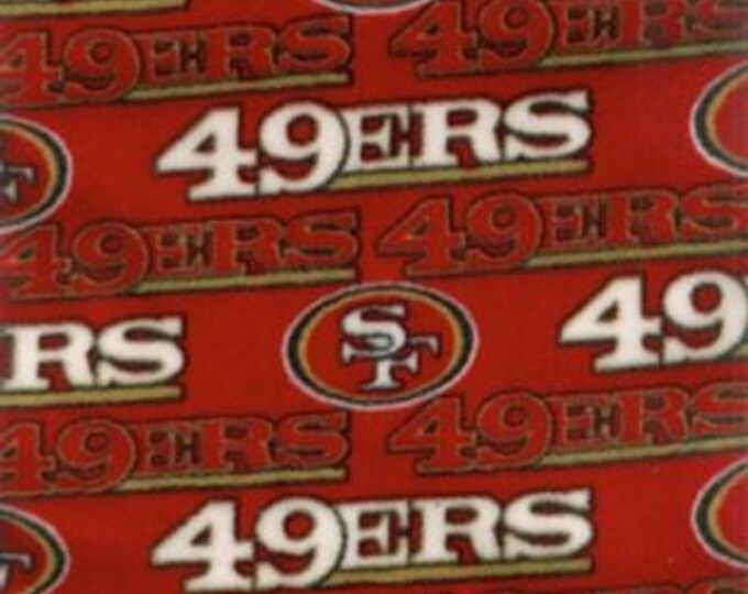 San Francisco 49ers Fleece Fabric by the Yard