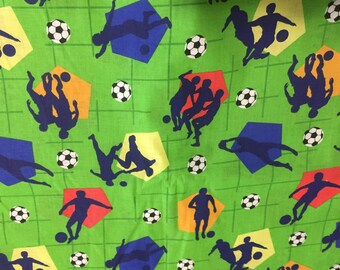 Soccer Cotton Fabric by the Yard