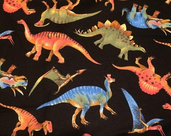 Dinosaurs Flannel Fabric by the Yard