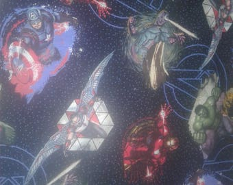 Avengers Galaxy Cotton Fabric by the Yard