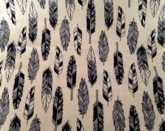 Feathers Flannel Fabric by the Yard