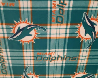 Miami Dolphins Fleece Fabric by the Yard