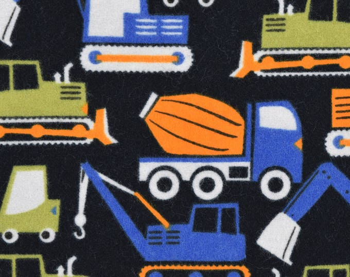 Heavy Equipment Flannel Fabric by the Yard