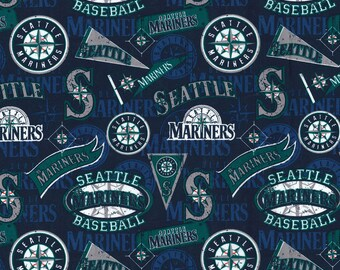 Seattle Mariners Cotton Fabric by the Yard
