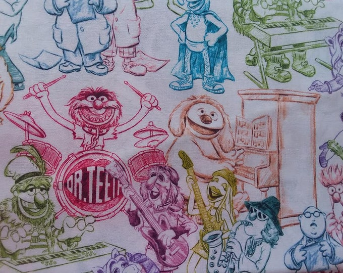 Muppets Cotton Fabric by the Yard