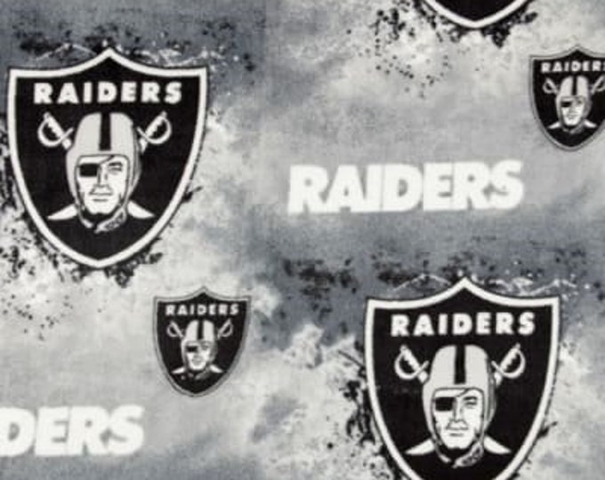 Oakland Raiders Fleece Fabric by the Yard