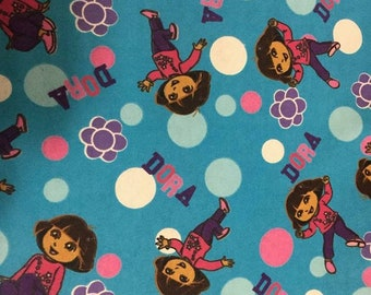 Dora the Explorer Flannel Fabric by the Yard