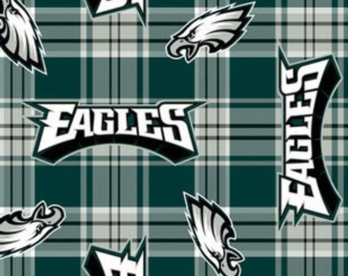 Philadelphia Eagles Patch Fleece Fabric by the Yard