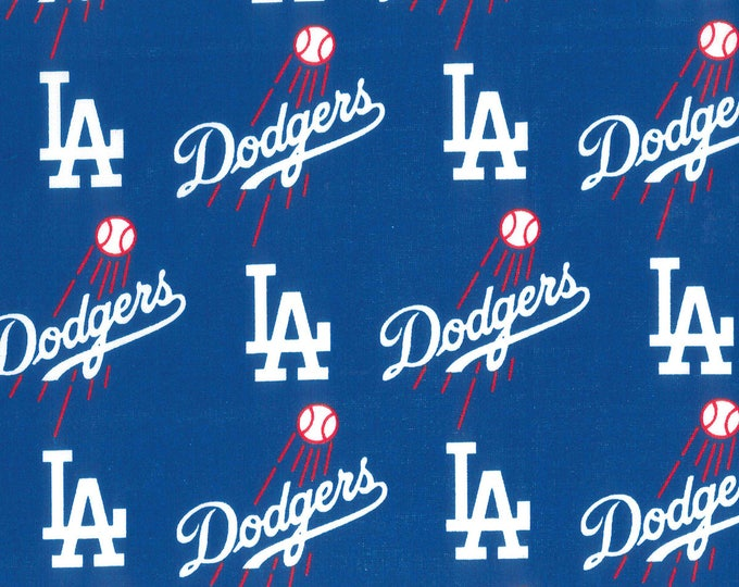 Los Angeles Dodgers Cotton Fabric by the Yard