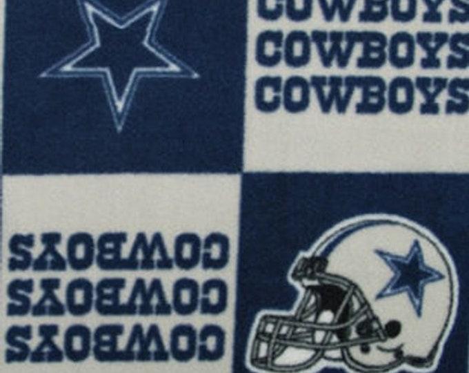 Dallas Cowboys Fleece Fabric by the Yard