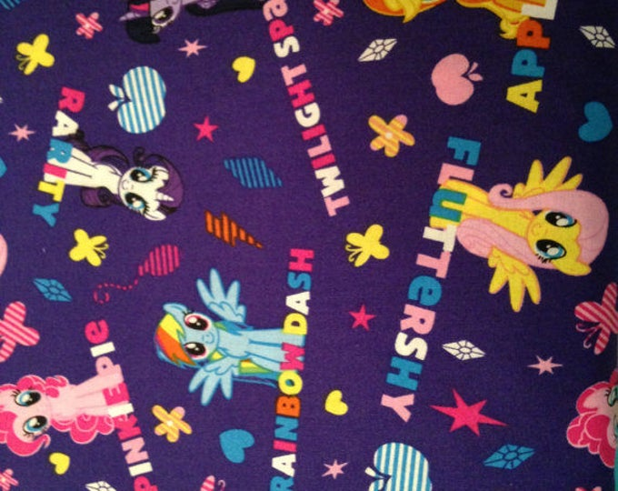 My Little Pony Cotton Fabric by the Yard