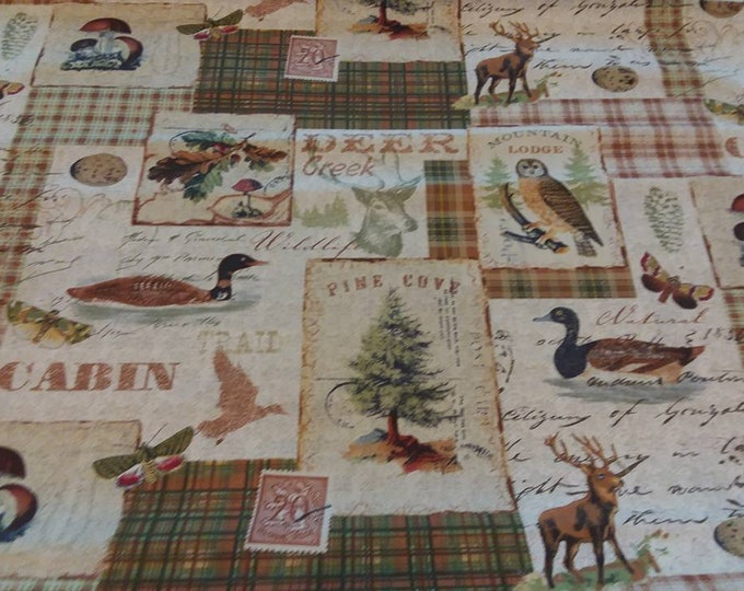 Wildlife Deer Creek Cotton Fabric by the Yard