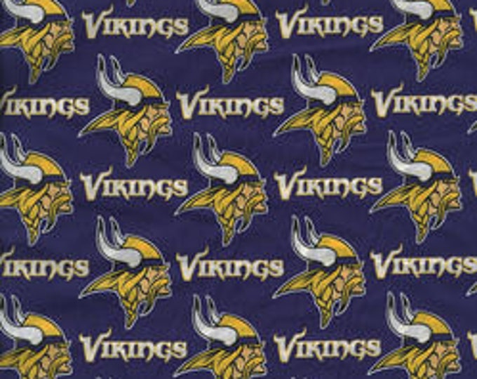 Minnesota Vikings Cotton Fabric by the Yard