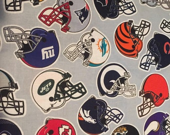 NFL All Teams Helmets Cotton Fabric by the Yard