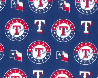 Texas Rangers Cotton Fabric by the Yard