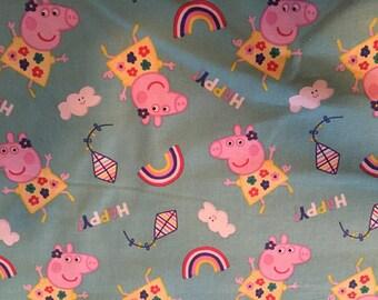 Peppa Cotton Fabric by the Yard