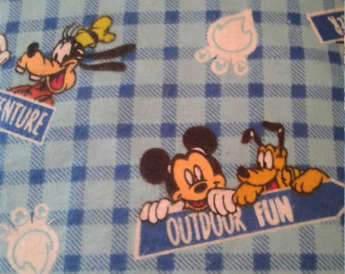 Mickey Mouse Flannel Fabric by the Yard