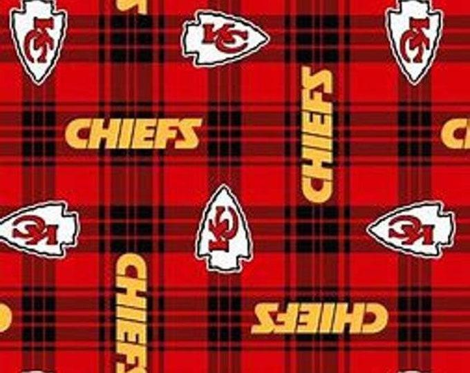 Kansas City Chiefs Patch Fleece Fabric by the Yard