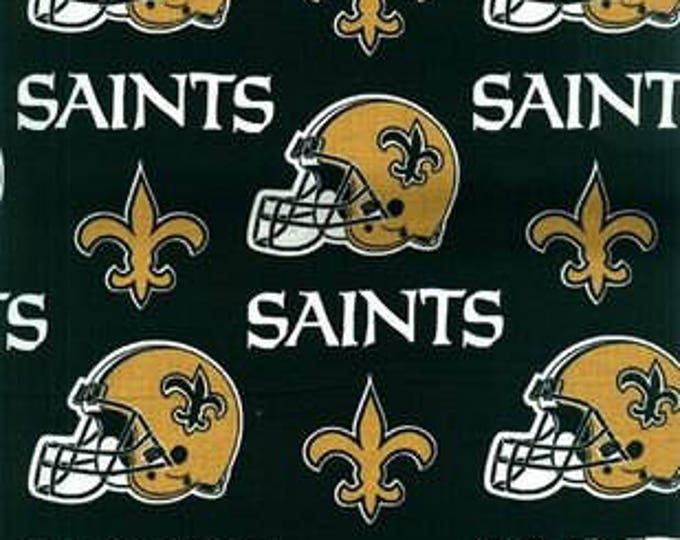 New Orleans Saints Cotton Fabric by the Yard