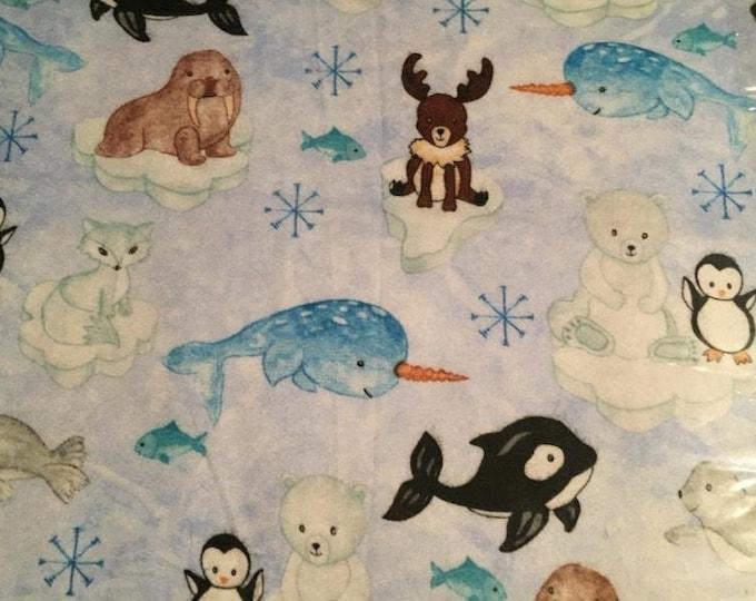 Nursery Animals Flannel Fabric by the Yard