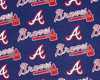 Atlanta Braves Cotton Fabric by the Yard