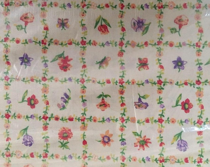 Flowers Cotton Fabric by the Yard
