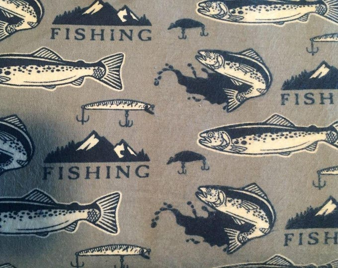 Fishing Flannel Fabric by the Yard