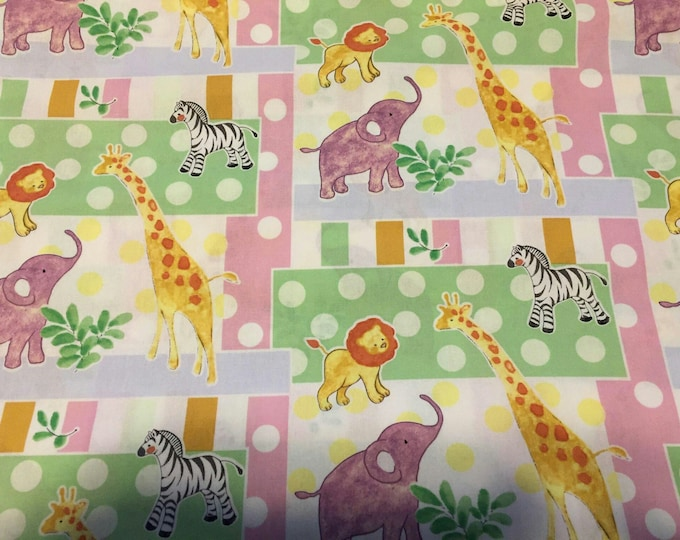 Nursery Safari Cotton Fabric by the Yard