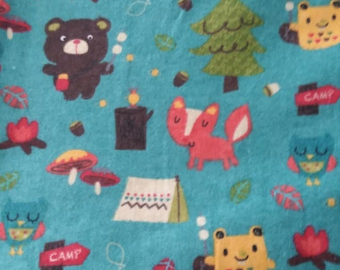 Baby Animal Forest Flannel Fabric by the Yard