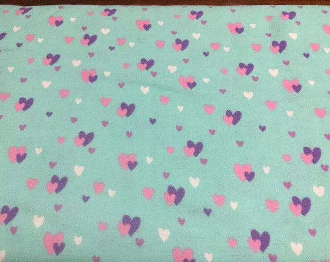 Hearts Flannel Fabric by the Yard