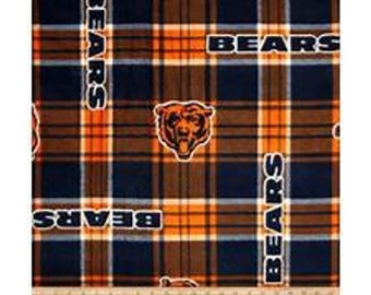 Chicago Bears patch Fleece Fabric by the Yard