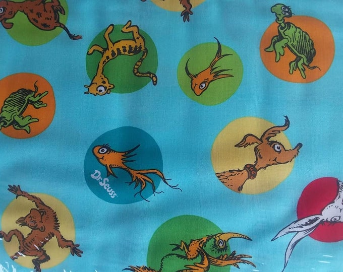 Dr Seuss Cotton Fabric by the Yard