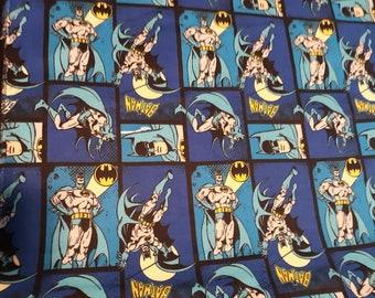Batman Flannel Fabric by the Yard