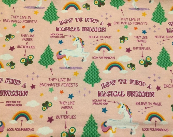 Unicorn Flannel Fabric by the Yard