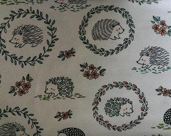 Nursery Hedgehog Flannel Fabric by the Yard