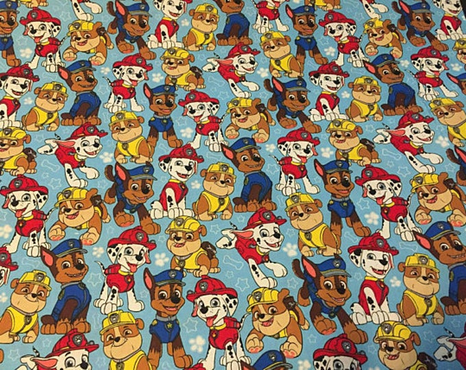 Paw Patrol Cotton Fabric by the Yard