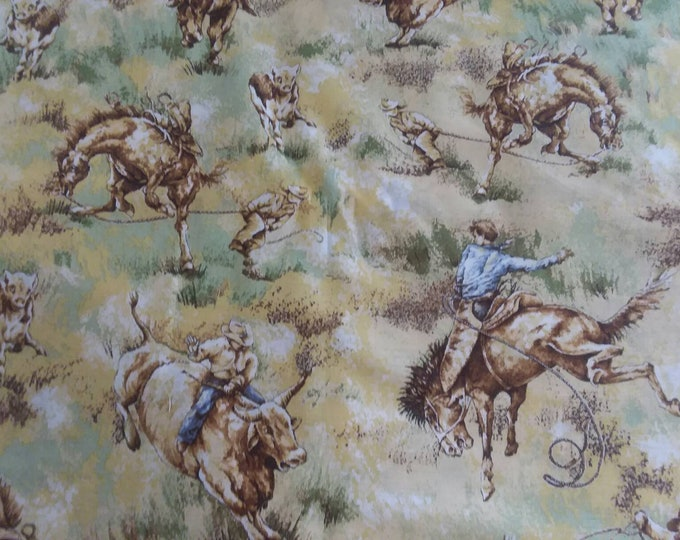 Cowboys Cotton Fabric by the Yard