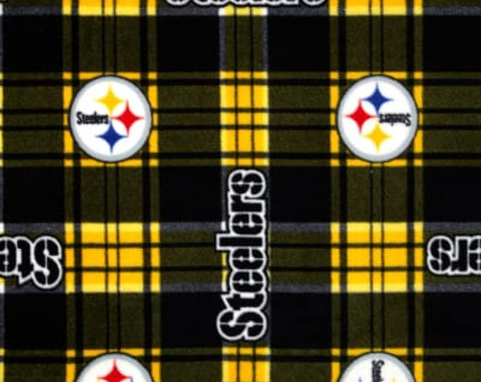 Pittsburgh Steelers Patch Fleece Fabric by the Yard