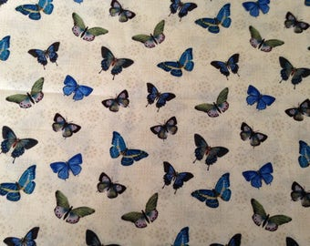 Butterflies Cotton Fabric by the Yard