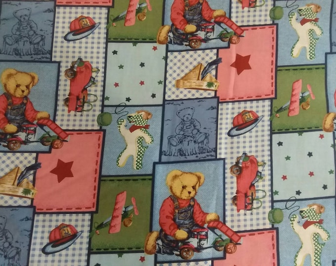 Nursery Teddy Bears Cotton Fabric by the Yard