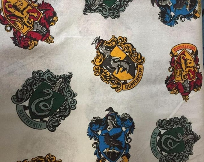 Harry Potter House Shields Cotton Fabric by the Yard