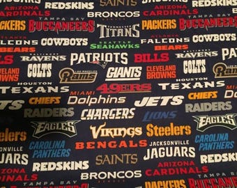 All Teams Cotton Fabric by the Yard