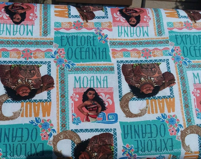 Moana Cotton Fabric by the Yard